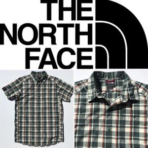 Men's THE NORTH FACE short sleeve plaid shirt